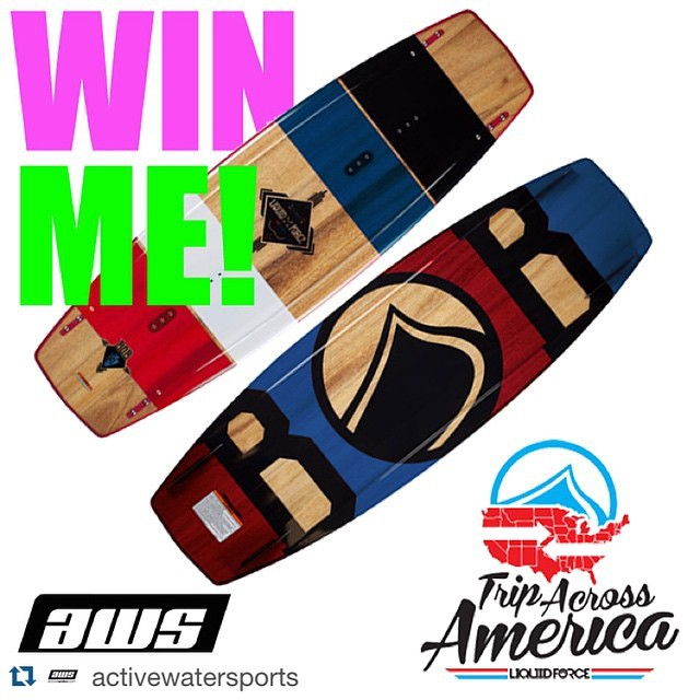 #Repost @activewatersports ・・・ The rules are simple! You must be following @activewatersports and @bobsoven. You also have to tag 2 friends in the comments--> Bob will be picking the winner on Monday at the AWS #tripacrossamerica event. If you live in...