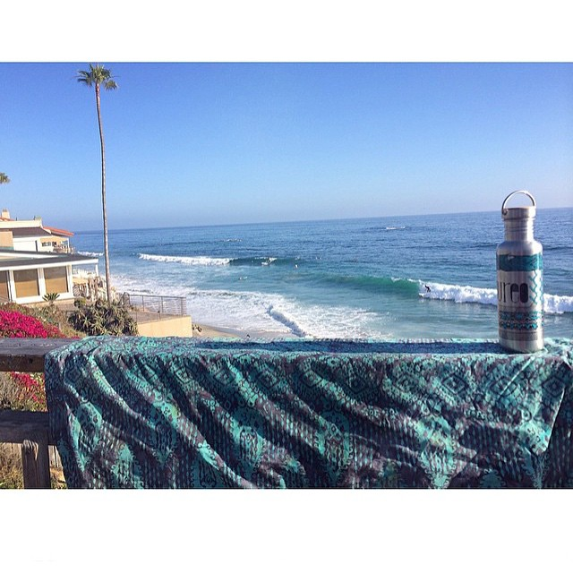 Staying hydrated and enjoying the view in Laguna Beach. Aloha weekend!