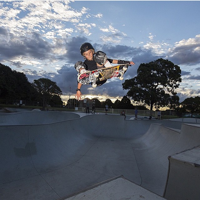 @k33gan wears the S1 Lifer Helmet. #keeganpalmer Ollie over the channel