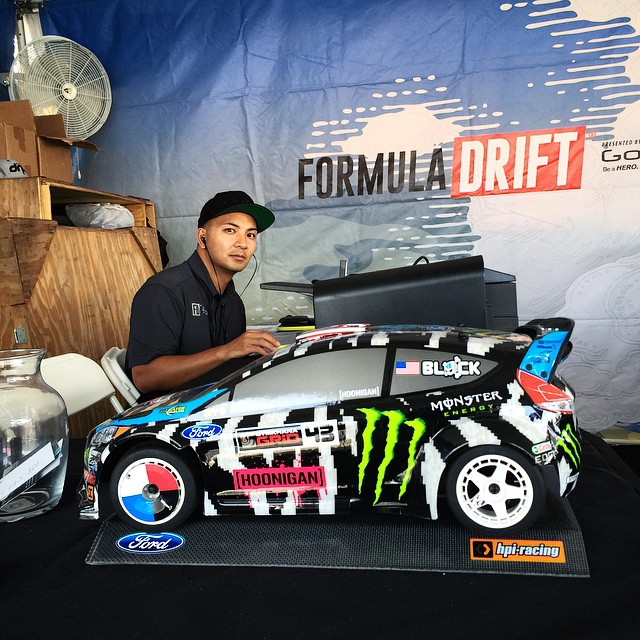 Spotted @kblock43 in HPI Racing (@hpiinstagram) form at the @fordperformance media center here at #FDNJ. #supporthooniganism