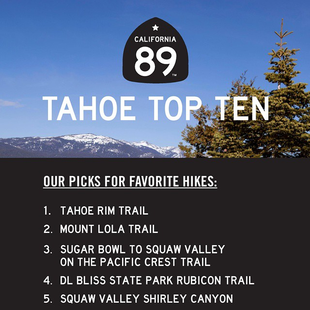 We love our hiking at #CA89, so to start our #TahoeTopTen lists for the summer we had to do our favorite hikes! What are some of your faves? To see the entire list and more detail visit california89.com/blog