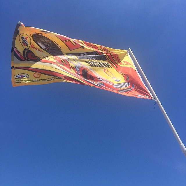 Excited to be in @racesonoma this weekend and we are flying the flag, #22 @joeylogano // Fun weekend ahead with @gopro x @warrenvigus x @kelsdogger x @joeyloganofdn