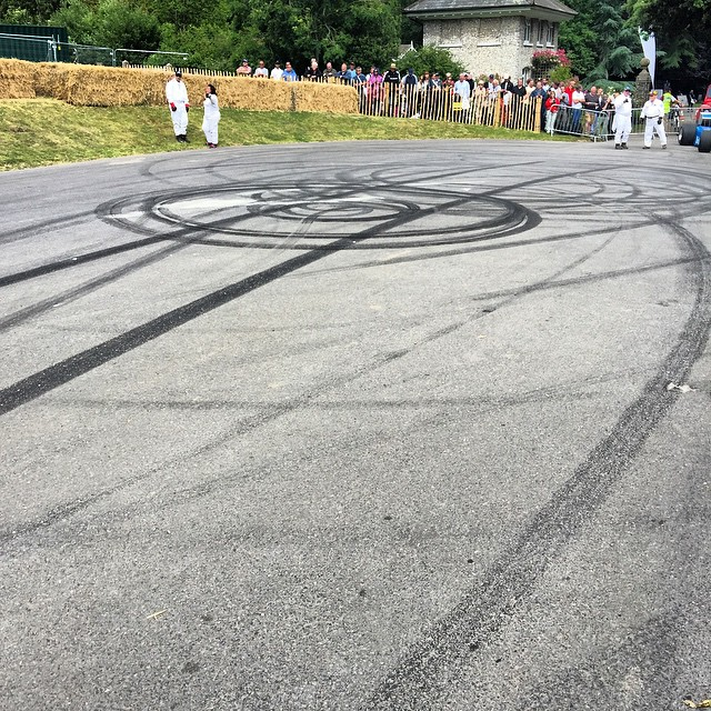 Guess who left these strong rubber donut marks at the bottom of @fosgoodwood Hillclimb