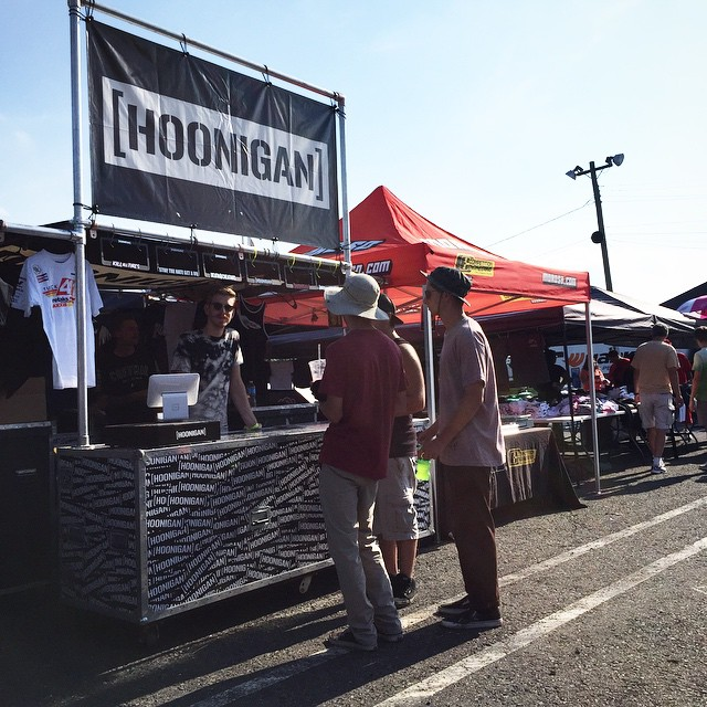 #FDNJ, we're in you. Come find our booth, we have shirts, socks, stickers and a beautiful blonde to take your order. #supporthooniganism