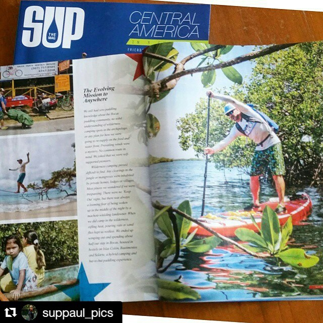 Check it out!! Hala Gear athlete @suppaul_pics Panama expedition is featured in the Summer edition of @supthemag on shelves now. #paddleboarding #suppaul #panama #halagearsup #kialoa #seatosummit #astralbrewers #grapesolar #switchsunglasses