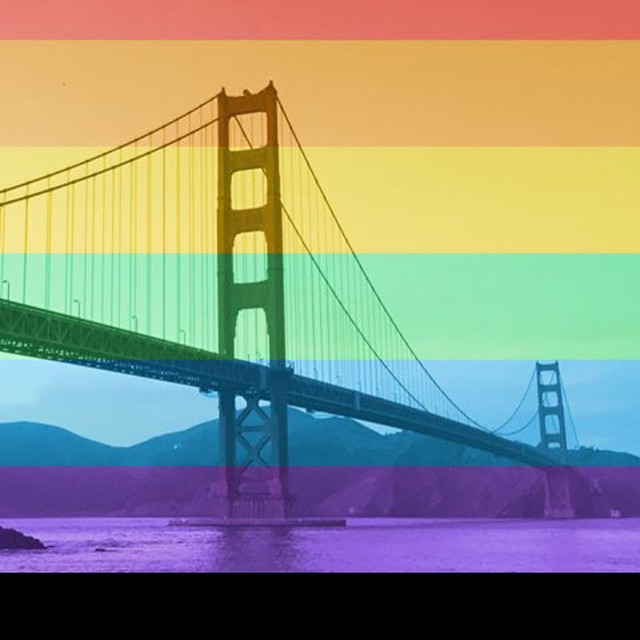 Rainbow has always been our favorite color in #sannfranny.  Yay for gay! #lovewins