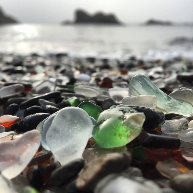 This beach is what my childhood dreams were made of #beachtreasures #seaglass #seaglassbeach #mendocino #beach #beachcomber