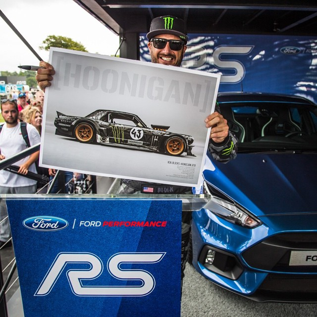 Check out this limited edition Ford Mustang Hoonicorn RTR poster we made just for @FOSGoodwood this weekend. If you're here at the Festival of Speed, come by the @FordPerformance booth at 3pm on Saturday or Sunday to get one signed from me - It's ONLY...