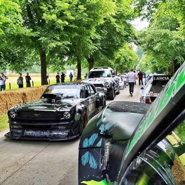 A wild #Hoonicorn in line here at @FOSGoodwood. Spotted and shot by my buddy/fellow @MonsterEnergy teammate @BJBaldwin, who's out here in his trophy truck. #regram #FOS
