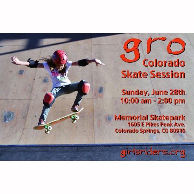 Calling all girls of #Colorado GRO skate sessions are back