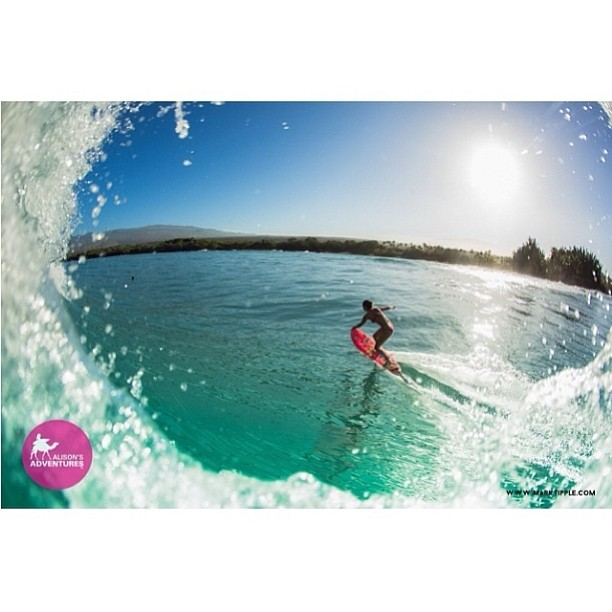 @alisonsadventures #charging this #big #swell that has been coming through. @marktipple #photo #getbarreled #pink #power