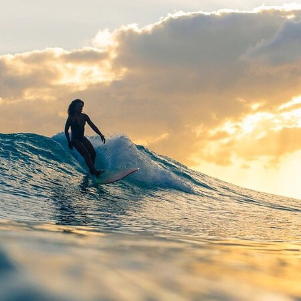 Summer is... surfing all damn day    day well spent by @nique_miller