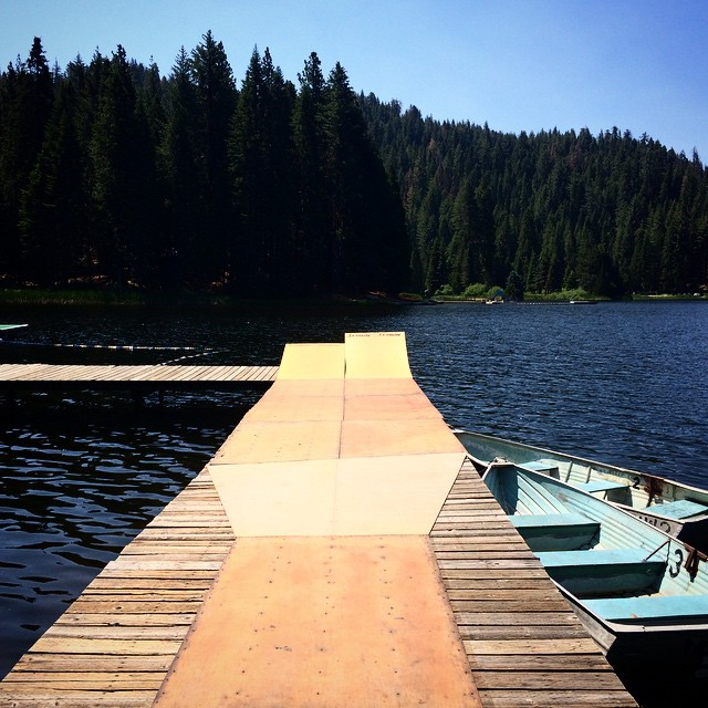 Who's going to come skate the Lake Launch this summer at @elementskatecamp? Camp starts TOMORROW >>> but you can still sign up for the later sessions at Skatecamp.org #elementskatecamp #skatecampvibes