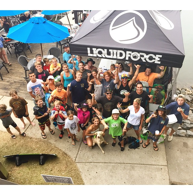 Stoked @icywakes crew at our @liquidforcetana tour stop in the southeast!  @harleyclifford @_benwatts @stephenpiercewake & @djohnsonwake supplying the fun today!! #LiquidForceTANA #GoPro