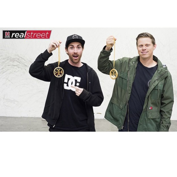Congrats to @mikemo and filmer/editor @chrisrayfilms on @xgames #RealStreet gold!! Well done boys! #Mikemo #DCShoes