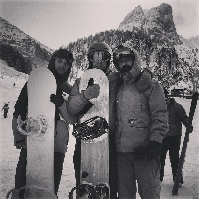 Supertubos from Poland and @pablocastror riding #loadedsnowboards protos in Innsbruck. #itssnowingtonight
