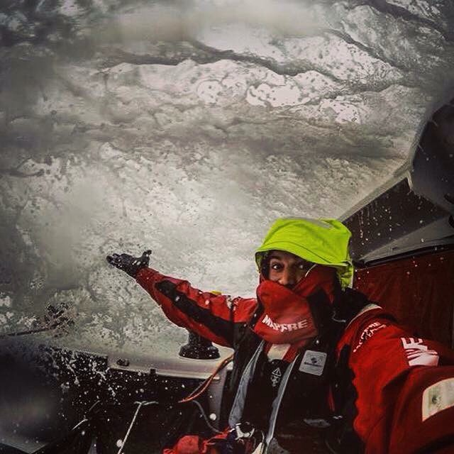 #Waves onboard // weekends on the southern Atlantic Ocean with @franvignale . #volvooceanrace
