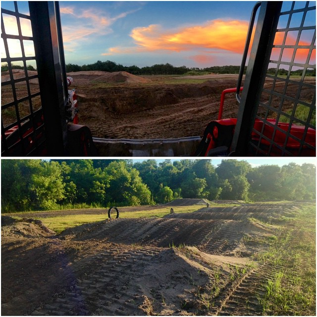 Working till sundown getting the track prepped for tomorrow! #wolfmx #theden #wolftrainingacademy
