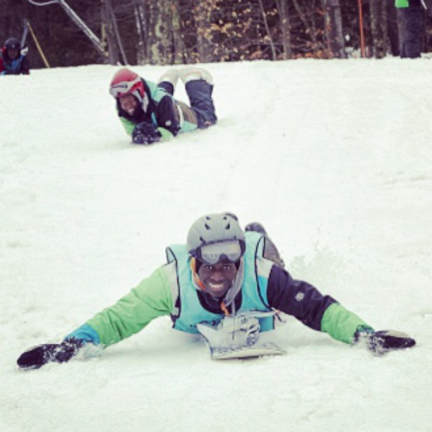 Sometimes you need to think outside the box to get where you're going. #motivation #determination #fun #happiness #creativity #beoriginal #joy #community #success #snow #snowboarding #mountain #ridetheslopes #snowboard #mentor #volunteer #youth...