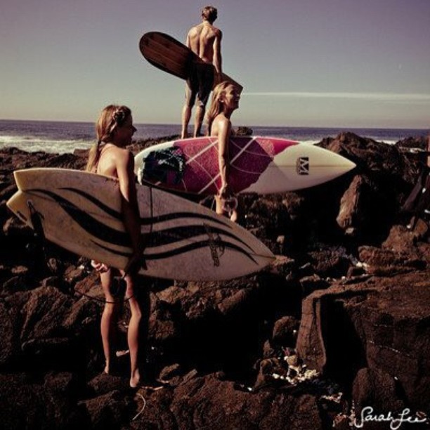 The three best friends anyone could have #letssurf @hisarahlee @swellliving @alisonsadventures