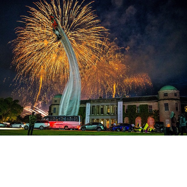 Last night's entertainment: the @FOSGoodwood ball. AKA a huge black tie dinner party at Lord March's Goodwood estate complete with fireworks, Gene Simmons, the Kaiser Chiefs, and tuxedos. Lots and lots of tuxedos. Had fun though. The Lord really knows...