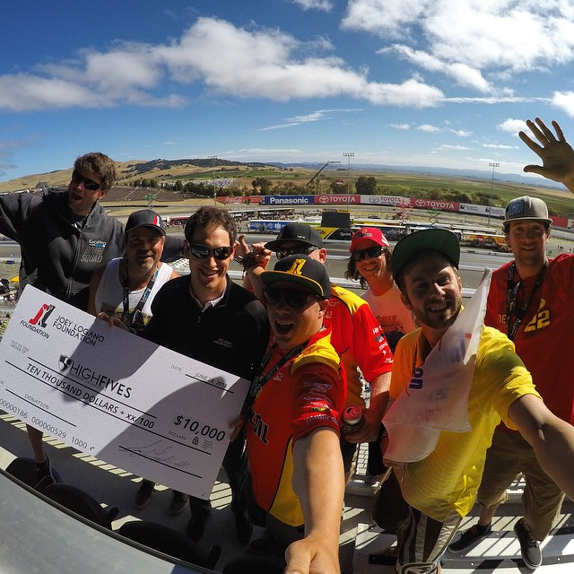 @joeylogano x @joeyloganofdn you are a true positive agent of change // Good luck at @racesonoma today and thank you for the $10,000 donation in the @gopro suite #Gopro