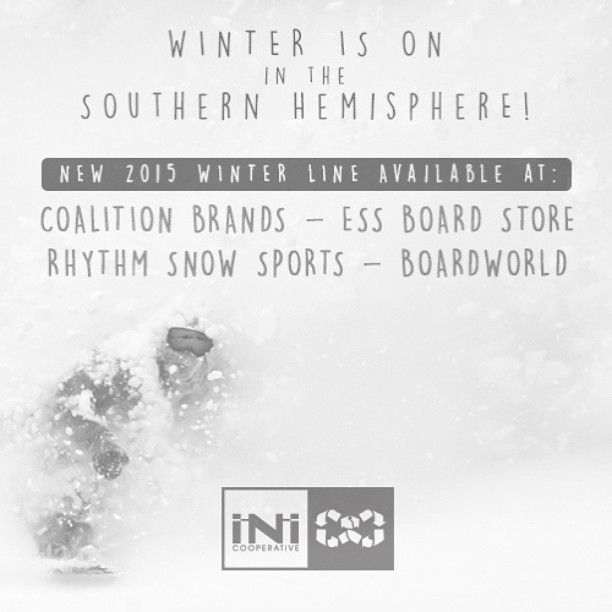 Winter is officially underway in the Southern Hemisphere! @essboardstore @coalitionbrands @rhythmsnowboardshop @boardworld | are stocked up with the freshest #iNi product . #ShopLocal #MindfullyManufactured ♻️