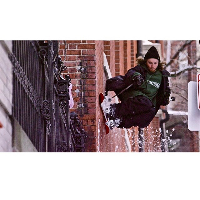 @cam_riley gettin down on the mean streets of Boston during a period of historic snowfall. See him there and more in our upcoming film. #shapingskiing Regram from @tetongravity  Photo: @cinejamo and @steptstudios