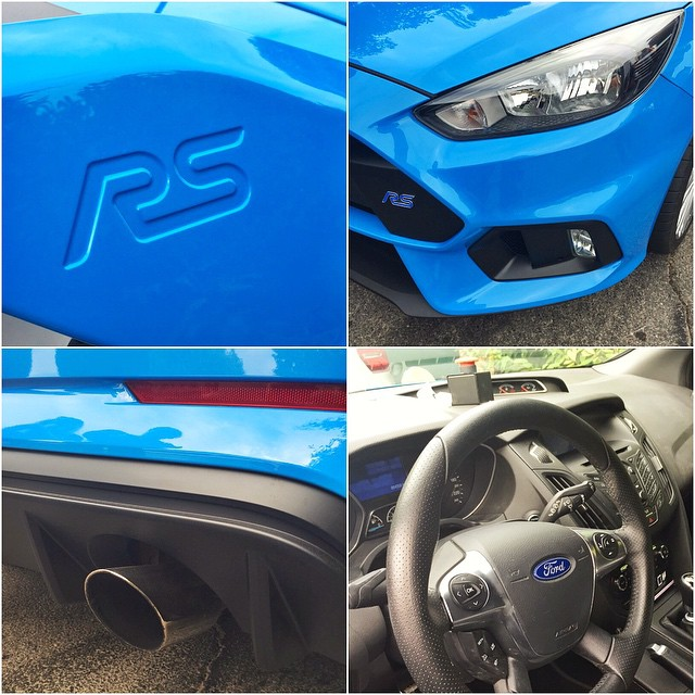 Admiring a few details on this Focus RS test mule I've been driving here at @FOSGoodwood. That badge on a brand new Ford Focus makes me very happy. #FocusRS #FOS #tastefulbadge