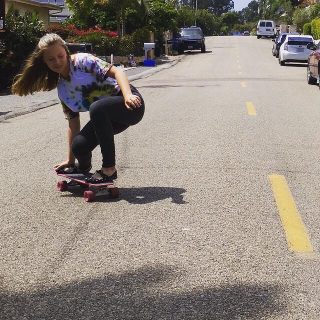 Sunday fun day. @skatingfashionista enjoying the summer sun cruisin! #skateeveryday
