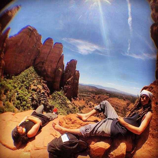 Summer time with @sababa_life at Sedona Vortex. Got any rad summer plans like this? #FluxBindings #nature #summer