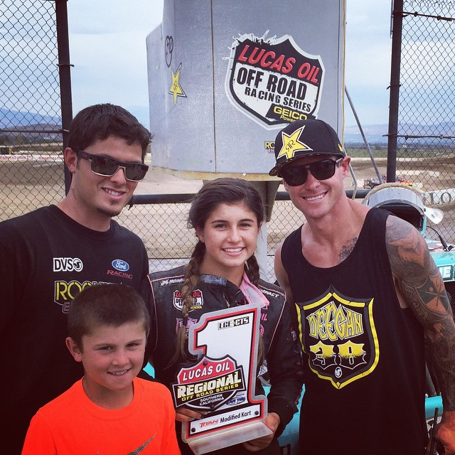 @hailiedeegan538 battled for the #win again today @lucasoiloffroad #races .