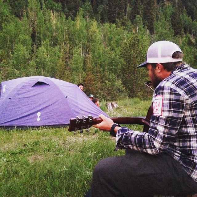 What do you do on an SOS camping trip when the kids can't sleep? SOS Team Guide John knows just what to do - play music! | #camping #getoutside #getoutdoors #kids #youth #inspireyouth #summitcounty #eaglecounty #colorado #coloradogram