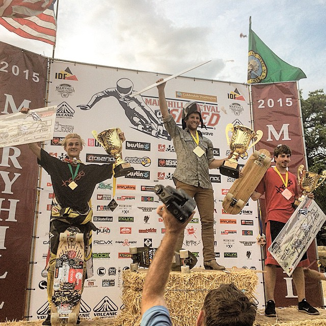 #maryhillfestivalofspeed has come to an end, and we all got a chance to see @zak_maytum smile after winning the #idf World Cup race! @venombushings @madridskateboards @aerakrimes @originalskateboards @thesewheels