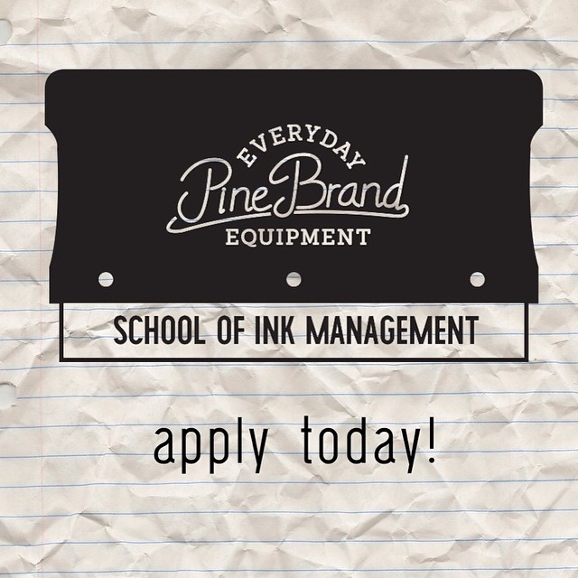We're looking for a couple young bucks interested in graphic design, screenprinting, and sweatshop living to apply for an 8-week unpaid internship with the Pine Brand School of Ink Management. You'll be compensated in Pine product and vast amounts of...
