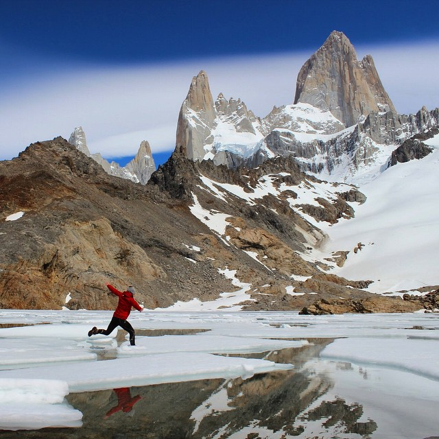 This morning, we're living vicariously through adventurer Stevie Plummer as she frolics beneath #FitzRoy and #CerroTorre in Patagonia.‪ #MountainCrushMonday‬ #ASCMicroplastocs