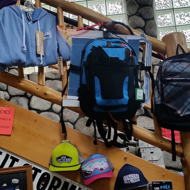 Our backpacks are now available in The Village Boardshop in South Lake Tahoe! #newstores #backpacks #coolers #getoutdoors #takeittothepeak #takeittothebeach #graniterocx