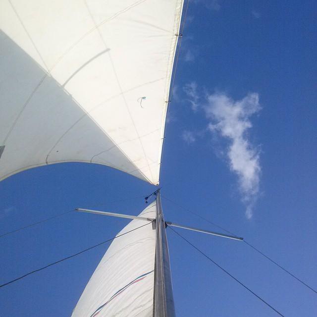 #Velero el #Aster, navegando en la tarde del #CabraCorral