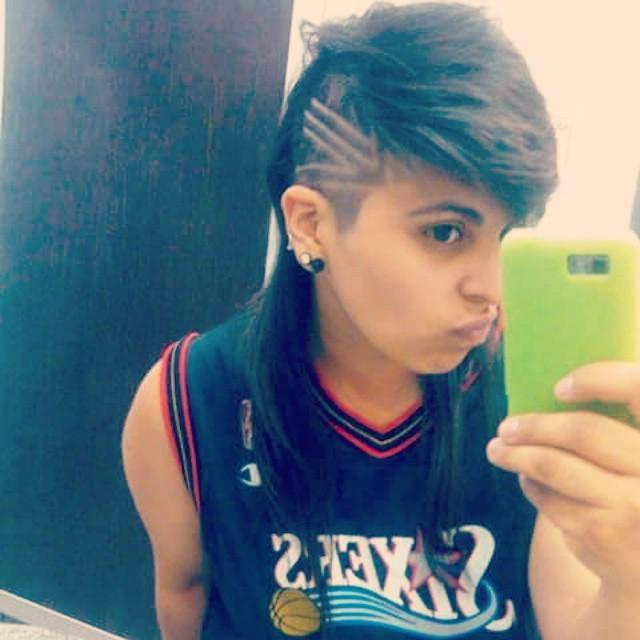 Quiero raparme así otra vez :( #hair #instagood #lesbo #swag