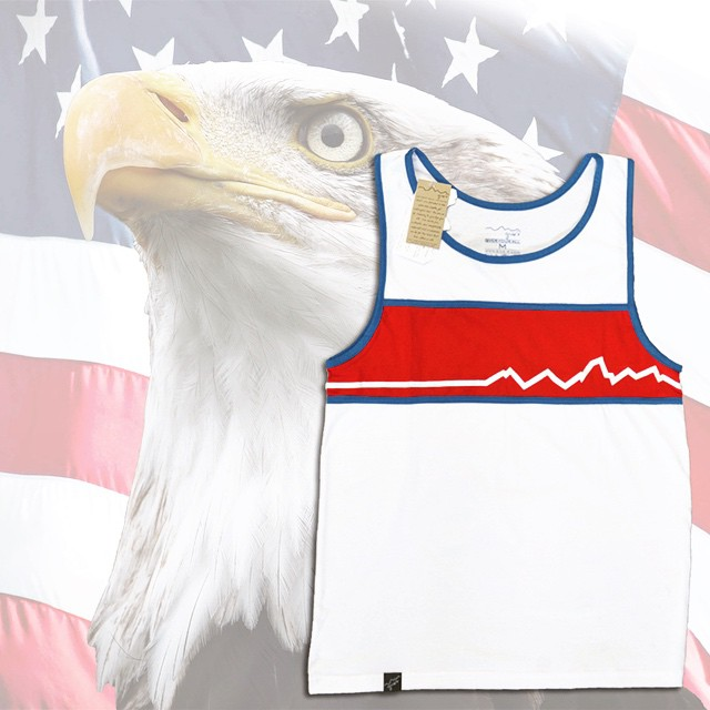 Meet your new best friend: The 'Merica Tank Top.  Order by midnight tonight, use discount code: TankU at checkout for free shipping.  Arrival by USA-Bday guaranteed - www.give-r.com #usa #tanktop