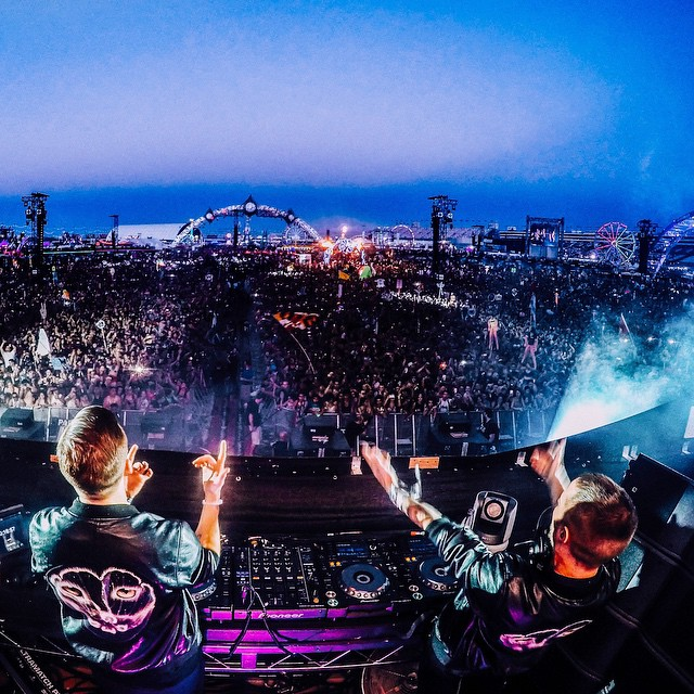 Swedish duo @wearegalantis stoke the crowd at EDC Las Vegas! Photo by @mishavladimirskiy. Show us your favorite GoPro concert photo for Music Monday by clicking the link in our profile.  #MusicMonday #GoProMusic #EDCLV #EDCLV2015