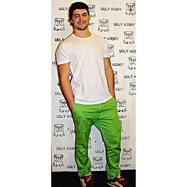 Hoy paso @nicolasspinelli y se llevo los Ugly Kooky Pants #Lime ! Uno mas para el #UglyKookyTeam! Genio gracias por la buena onda.