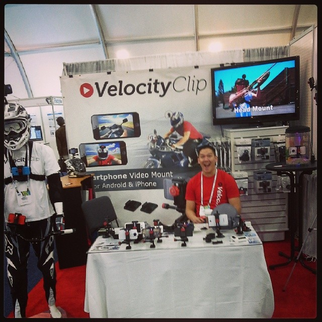 Last day at #CES2014.  Team #velocityclip making moves