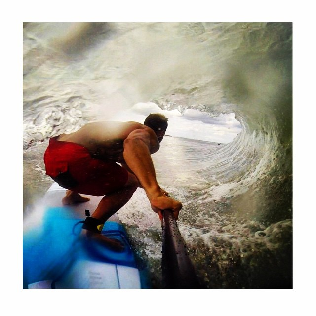 "Team ammbassad @brian_s_meyer finding a few caverns on his 8""X27' #roguesup."