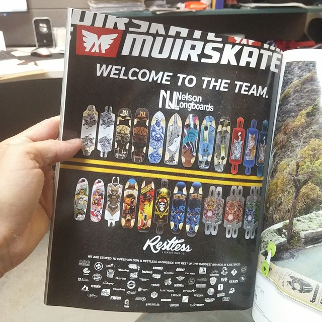 Have you seen the latest @concretewavemag?  @muirskate surprised us with this awesome add! Thanks a lot Muir! #restlessboards