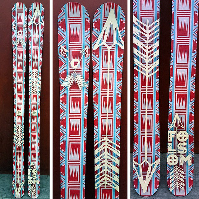 HOT weather and HOT skis! Summer Customs headed out the door with new graphics.  Just a few spots left in sale for the year. Visit our site for more info.  #summerski