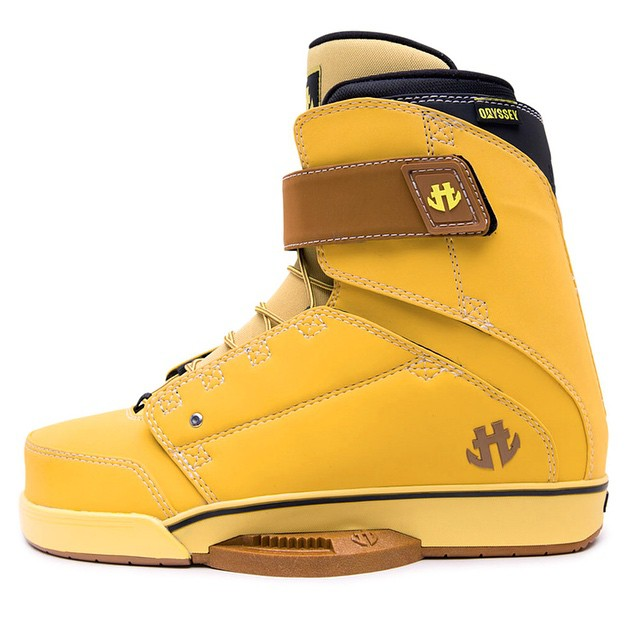 Go to work on your riding this summer.  The Odyssey Boot in CAT Yellow will take you to the next level. #doworkboots #wakeboarding #steeltoenotincluded