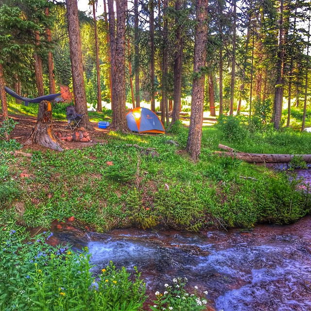 Throughly enjoyed a nights sleep riverside courtesy of the Colorado Outdoors! #colorado #camping