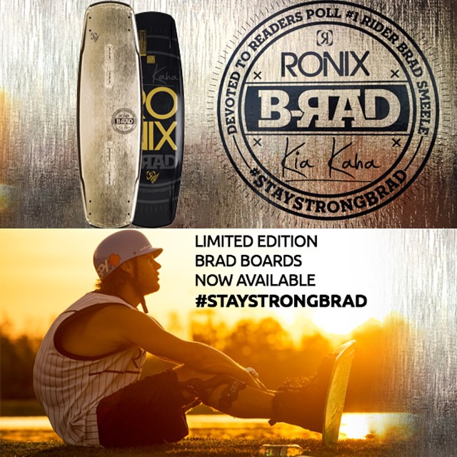 Get your limited edition @bradsmeele boards now. #oneloveinwake #getradforbrad #shredforbrad #staystrongbrad #ronixlove #fortifedwithlakevibes