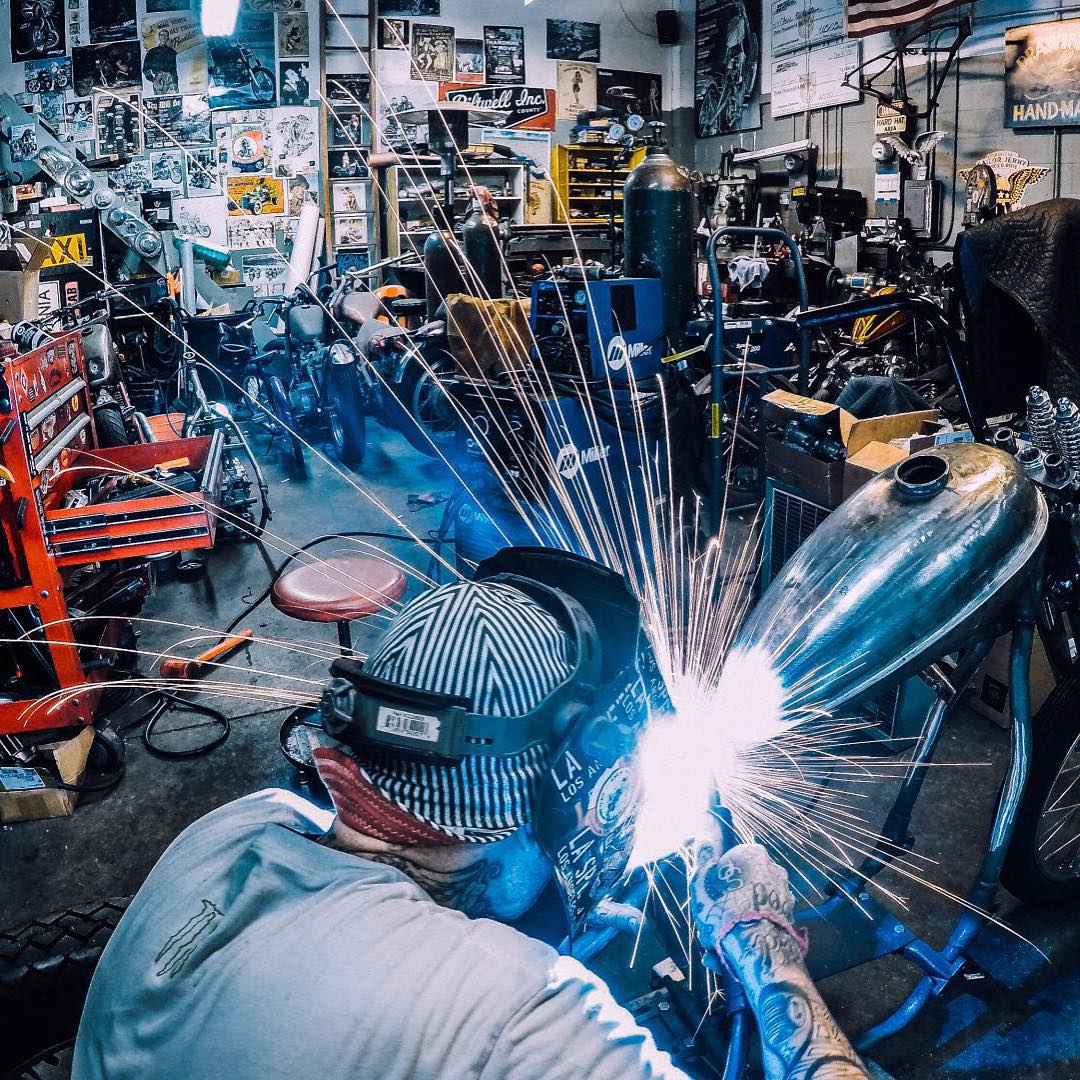 Photo of the Day! Sparks fly across the shop while working on a custom Calibernia bike. Submit your best photos by clicking the link in our profile. #GoPro #Photooftheday